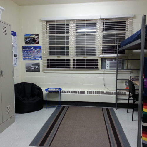 Example of residence halls room